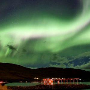 Aurora Boreal no Norte da Islândia